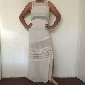 Off White Sheer Dress